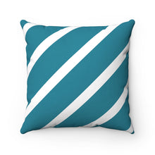Teal Nautical Throw Pillow