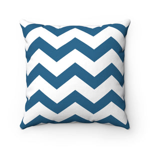 Nautical Chevron Square Pillow