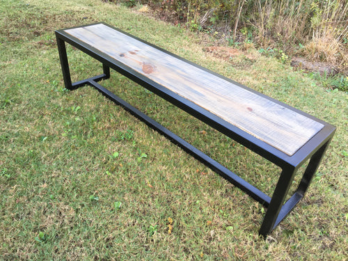 Moden Metal Farm Table Bench