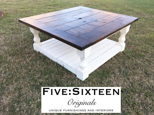 Custom Baluster Coffee Table