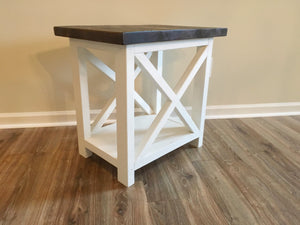X Brace End Table