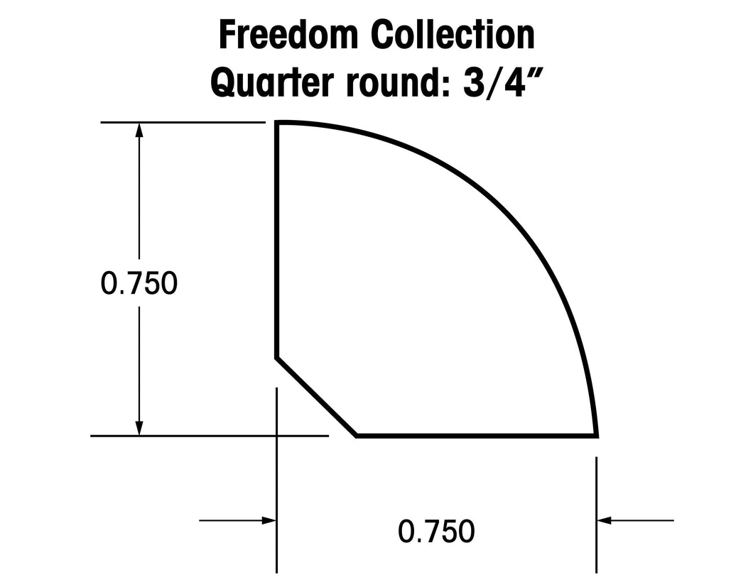 Quarter Round Moldings for the Freedom Collection