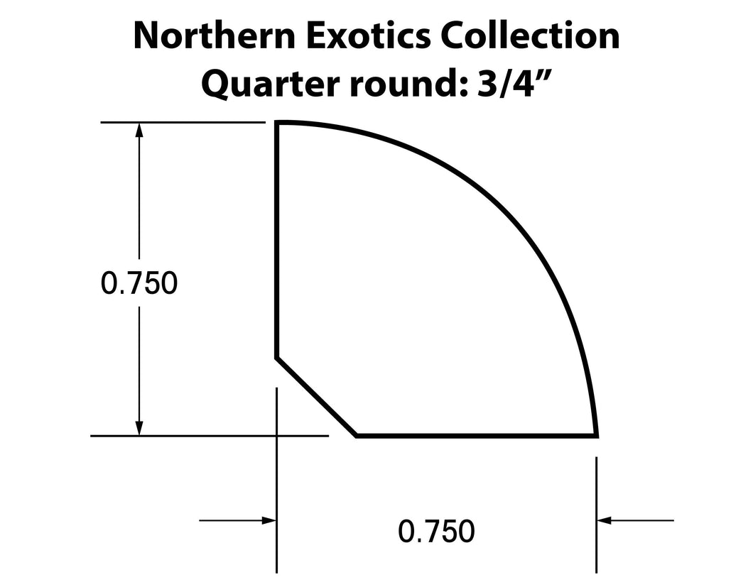 Quarter Round Molding Northern Exotics Collection