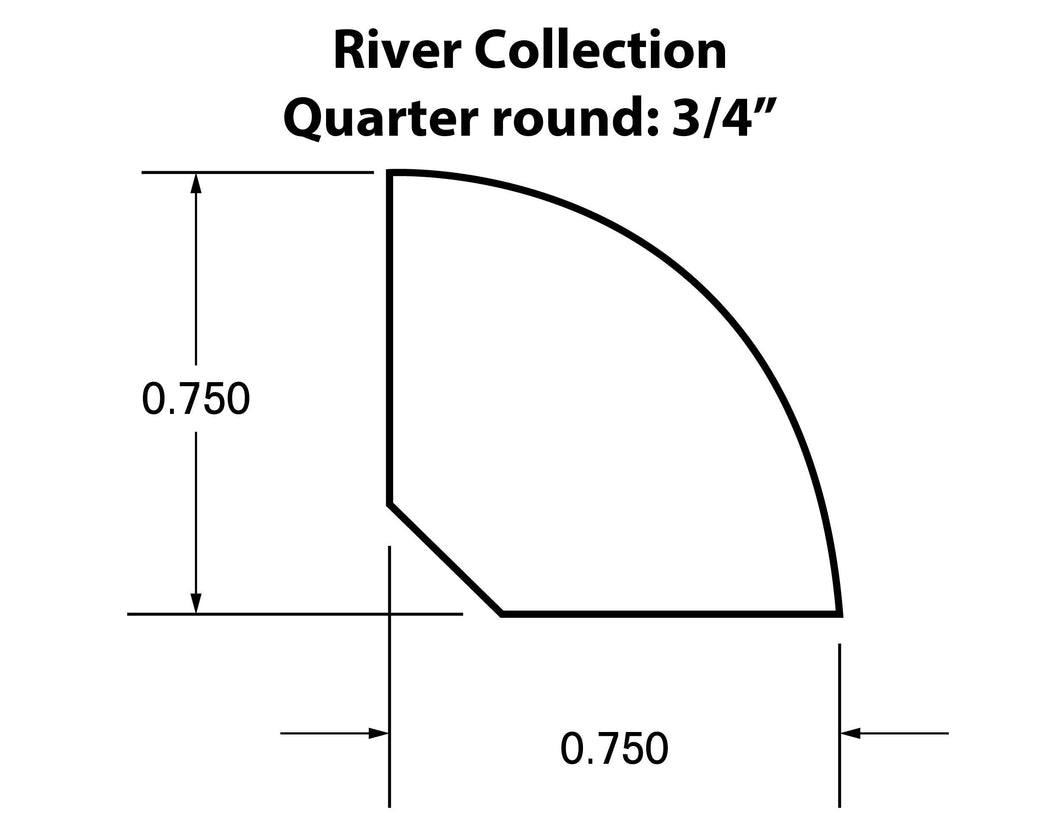 Quarter Round Moldings for the River Collection