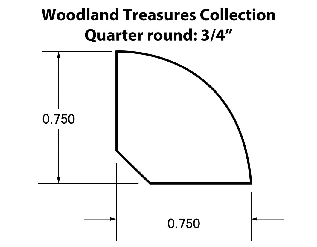 Quarter Round Moldings for the Woodland Treasures Collection