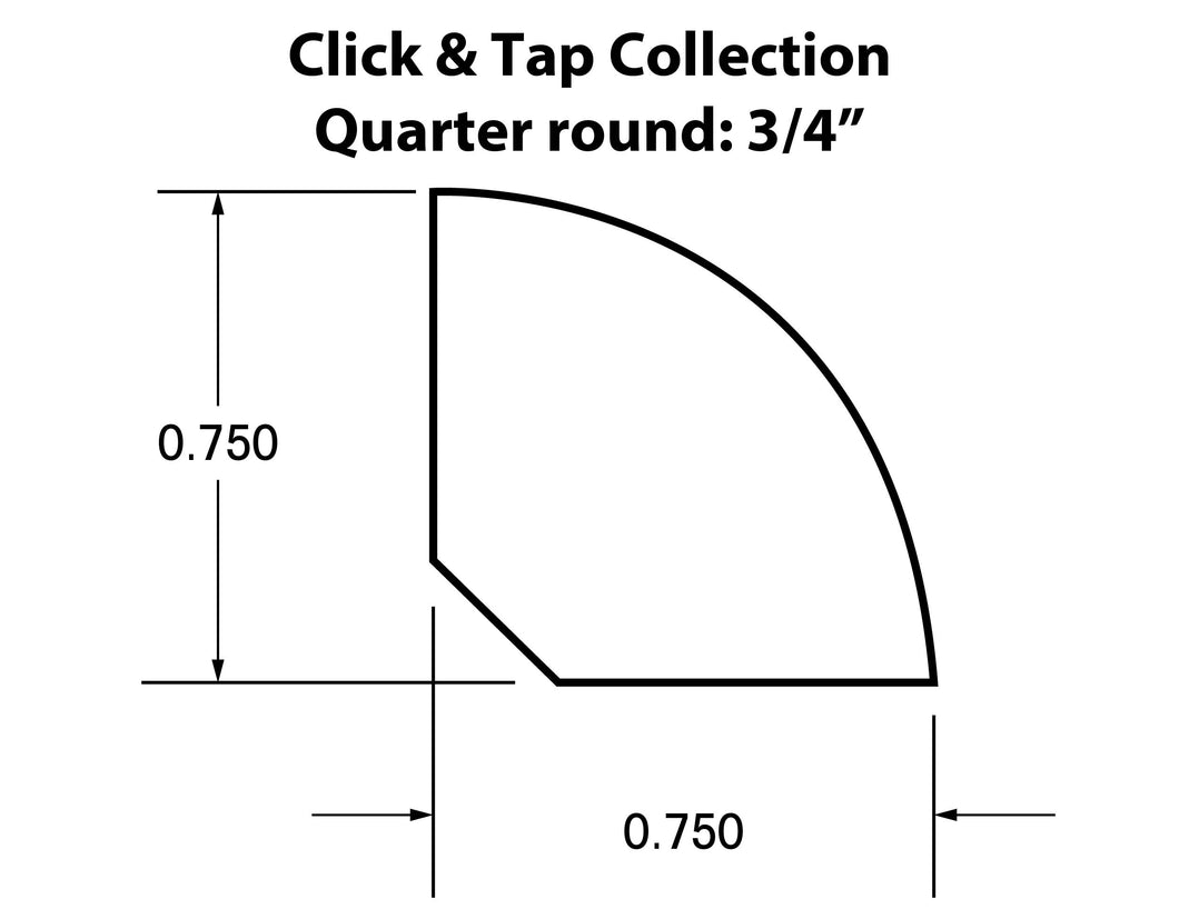 Quarter Round Molding Click & Tap Collection