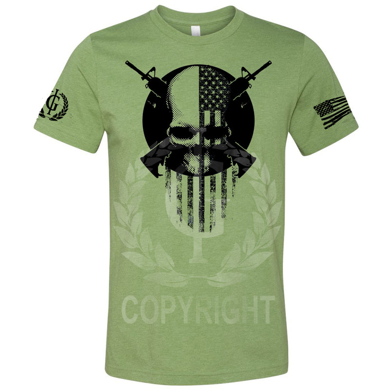 IG Military Muscle Skull Logo