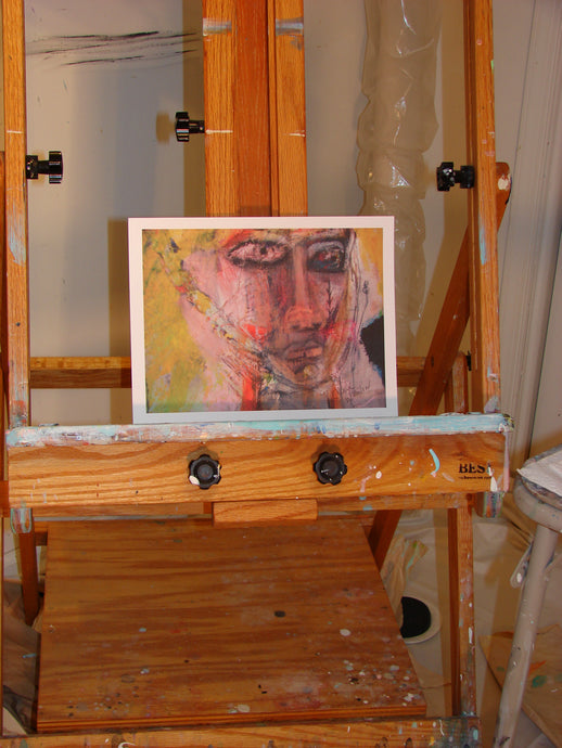 abstract face artwork by cheryl wasilow