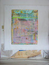 large textured abstract painting in pastel colors by cheryl wasilow artist