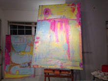 Huge painting on easel next to another painting Santa Clara cherylwasilowart