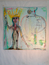 funky outsider art portrait of naked girl by cheryl wasilow