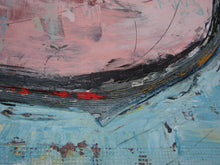 modern abstract painting blue and pink by artist cheryl wasilow
