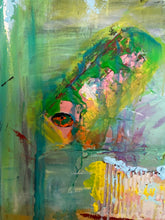 green abstract painting by cheryl wasilow