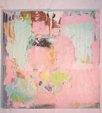 36 x 36 large pink painting by artist cheryl wasilow