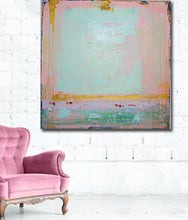 shabby chic large painting pink by cheryl wasilow