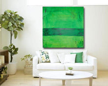 green contemporary painting in abstract style by cheryl wasilow