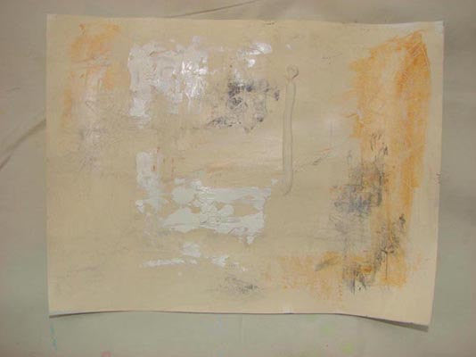 cream colored mixed media artwork by cheryl wasilow artist