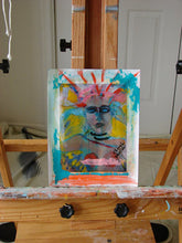 painting on paper of abstract face of woman by cheryl wasilow