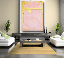 pink and gold custom painting in huge size 60 x 40 abstract original art by cheryl wasilow