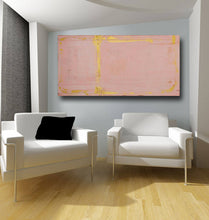 gold and pink large vertical painting 24 x 48 modern art by cheryl wasilow