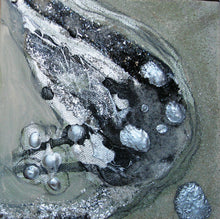 metallic silver and glitter artwork in small size