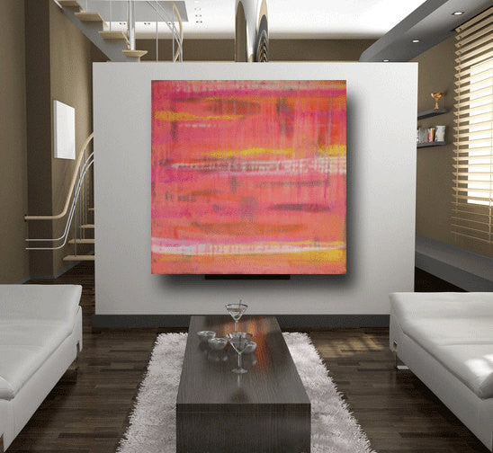 Cabo St Lucas custom abstract painting sunset colors 36 x 36 ...
