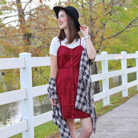Winter Berry Two Piece Dress