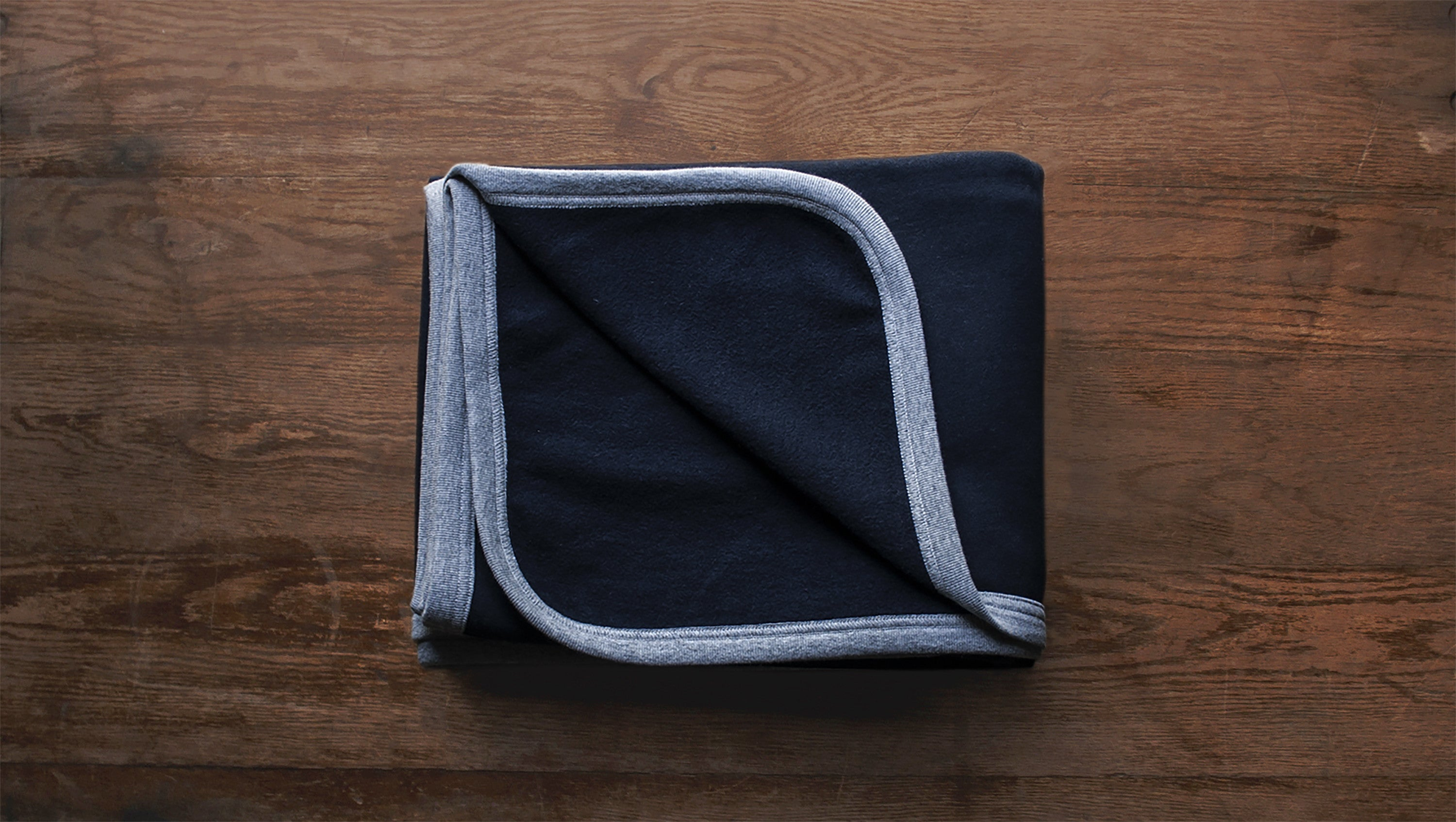 Inside View of a Navy Beresford Blanket