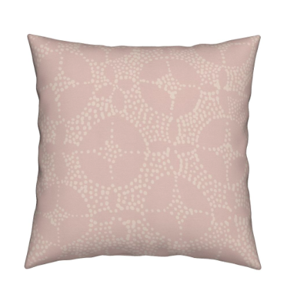 Large Mosaic Throw Pillow, Petal