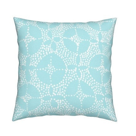 Mosaic Throw Pillow, Aqua