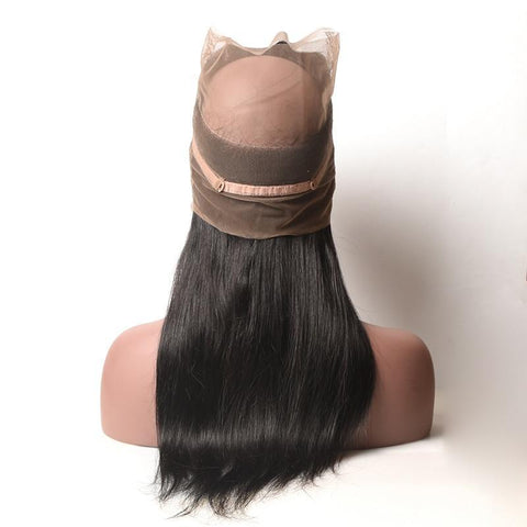 360 Lace Frontal Closure With Baby Hair 100% Human Hair Free Part Non-remy Hair