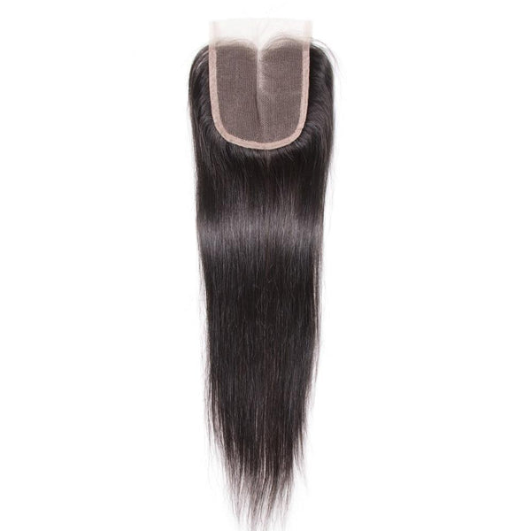 Peruvian Hair Straight Lace Closure Hair Remy Human Hair 4*4
