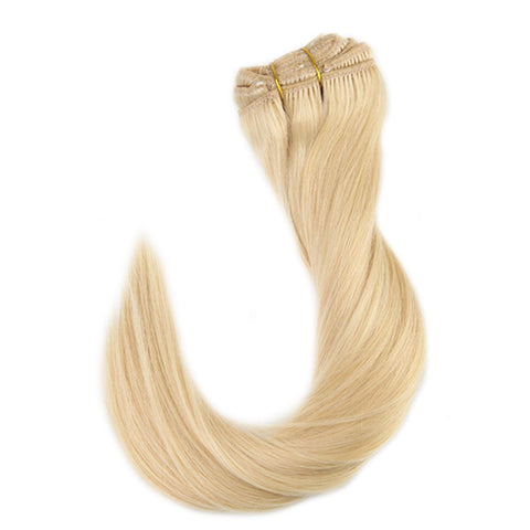 Blonde Extensions Human Hair Blonde Color #613 9 Pcs 100g Clip in Hair
