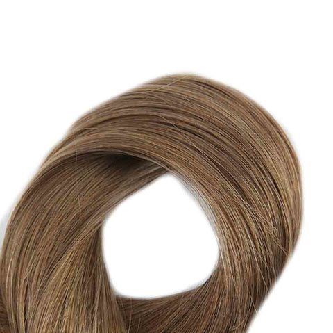 Double Drawn Tape in Hair Extensions Pure Color 50g 20Pcs Colorful Hair Extensions Remy Human Hair Skin Weft Tape ins #8