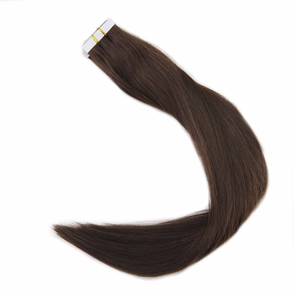 Double Drawn Tape in Hair Extensions Pure Color 50g 20Pcs Colorful Hair Extensions Remy Human Hair Skin Weft Tape ins #4