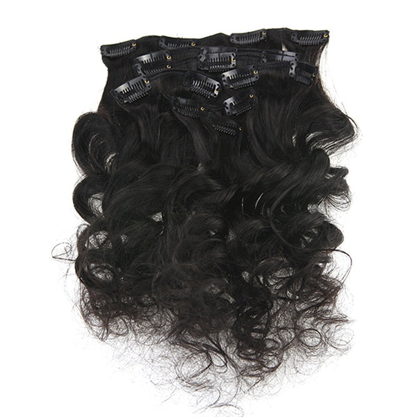 Natural Wavy Clip Hair Extensions