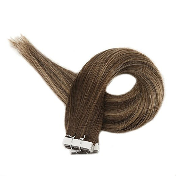 Tape in Hair Extensions Balayage Color Seamless  3 24 3