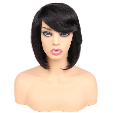 Camila | Short Natural Black Bob Wigs