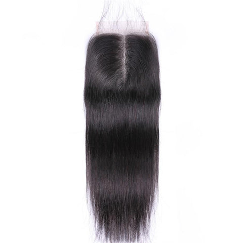 "Brazilian Straight Hair Closure Remy Human Hair 4""*4"""