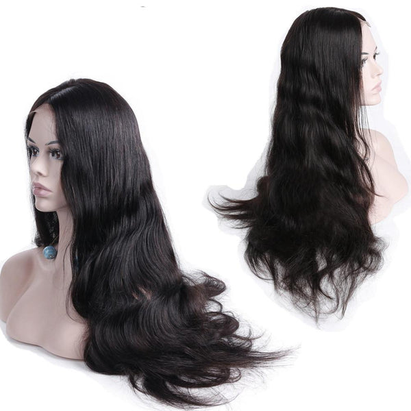 Malaysian Body Wave 360 Lace Frontal Wigs Pre Plucked With Baby Hair Remy Human Hair Wigs 150% Density 22x4x2 Lace Wig For Woman