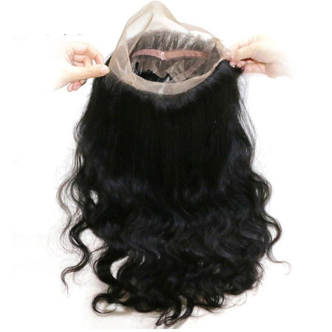 Hair Body Wave Brazilian Hair 360 Lace Frontal Front