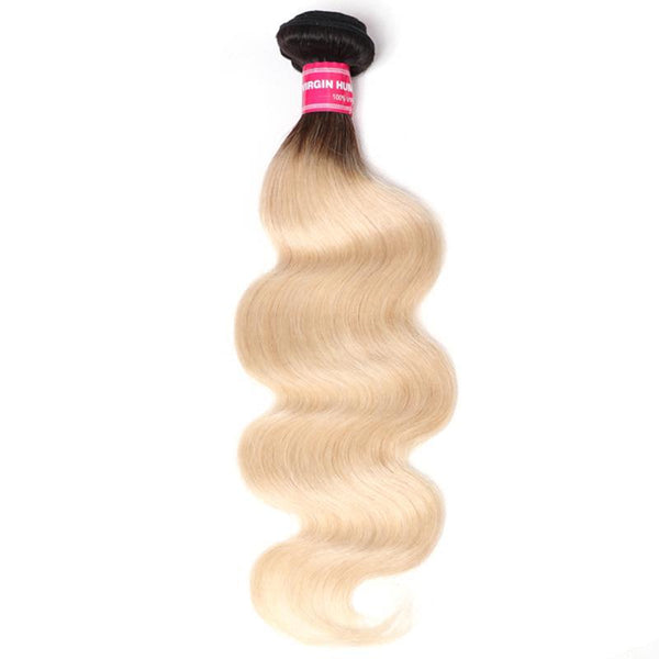 Hair Ombre Peruvian Body Wave Hair Bundles 1 3and4 PC 1B/613 ombre Blonde Remy Human Hair Extensions 10-20 Inches