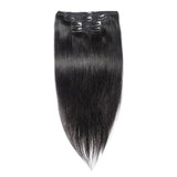Straight Clip in Hair Extensions | Jet Black#1