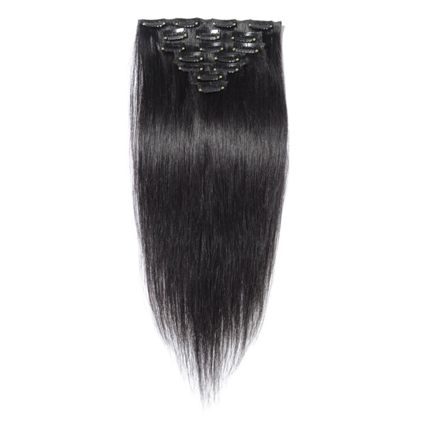 Straight  Clip in Hair Extensions | 1B