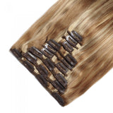 Straight Clip in Hair Extensions | #27/613
