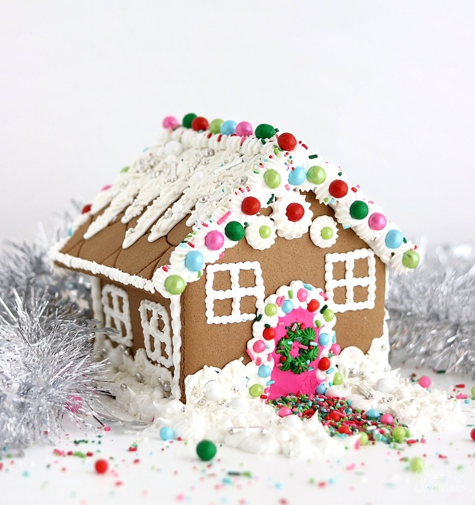 Sprinkle Gingerbread House Tutorial