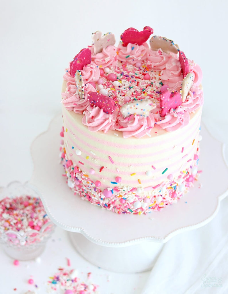 Circus cake with sprinkles