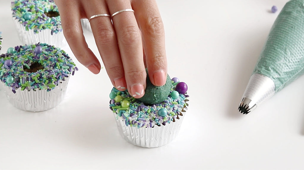 how to make a succulent cupcake