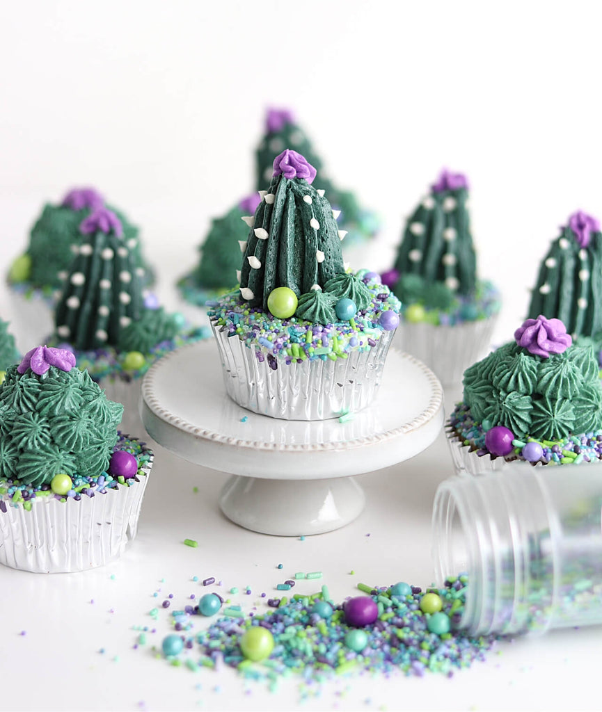 Cactus Flower Cupcakes Sprinkle Pop