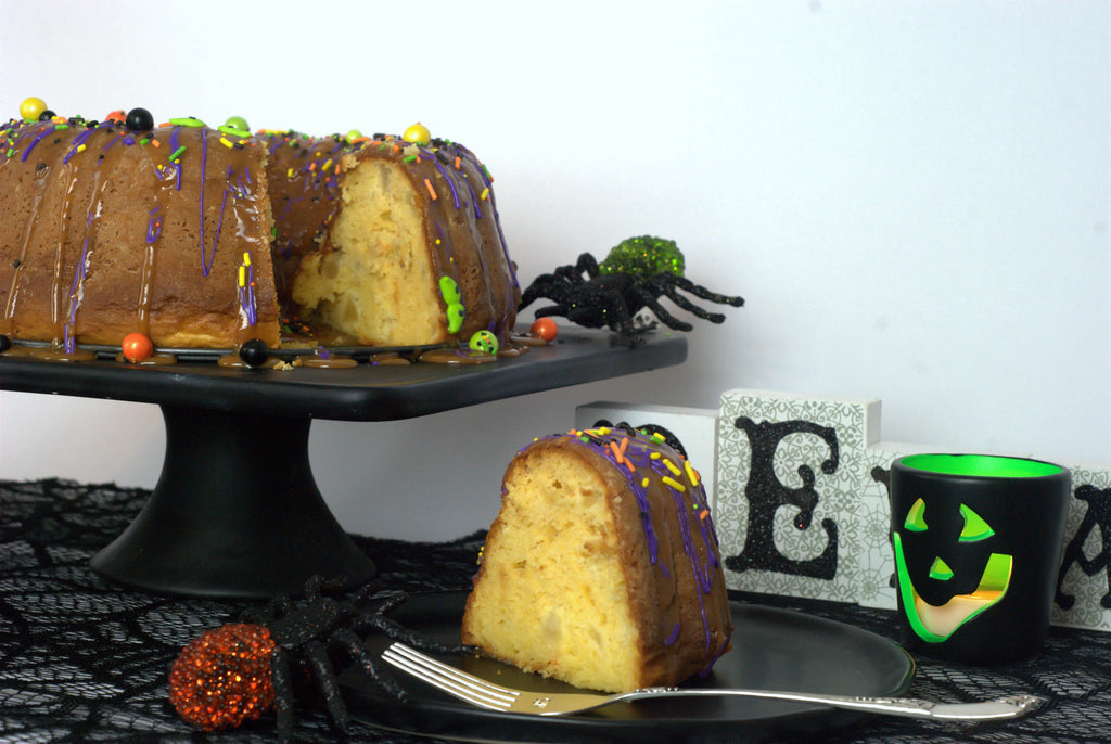 Apple Cake with Halloween Sprinkles